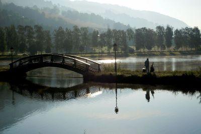 fishing by bridge