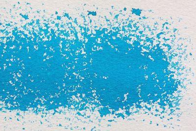 splattered blue paint