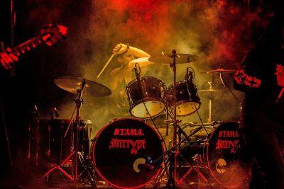 drummer and drum set