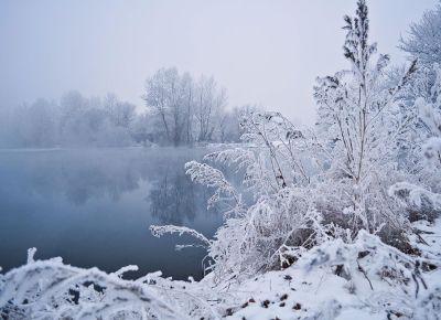 icy winter lake