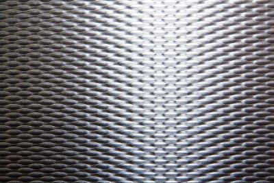 closeup of textured metal sheet