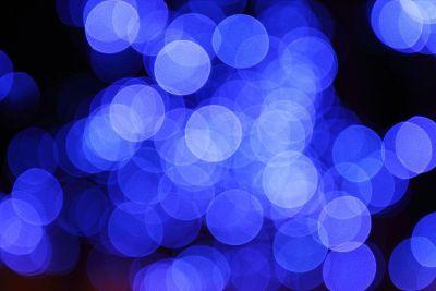 blue lens flares