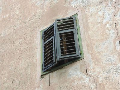 window shutter on old building