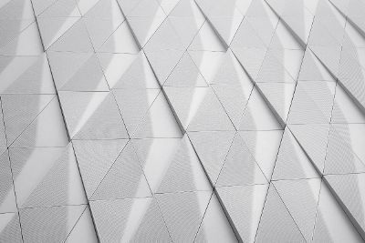 white triangles with shadows