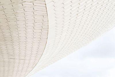 a textured exterior wall
