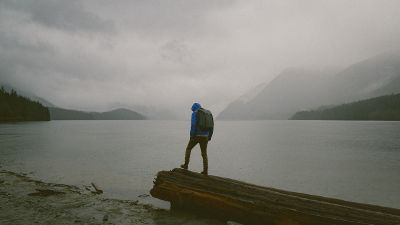 misty hiker