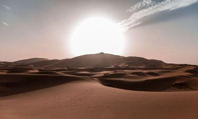 sun in the desert