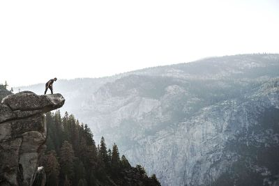man on a cliff