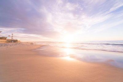 sunrise on an empty beach