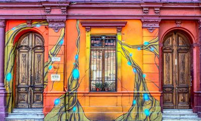 colorfully painted building