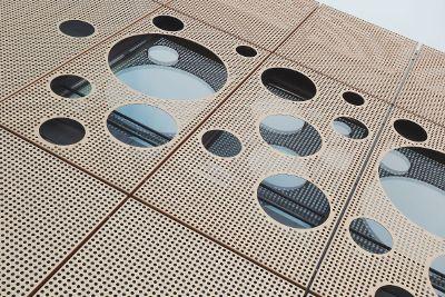 mesh with circular design