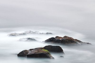 clouds covering rocks