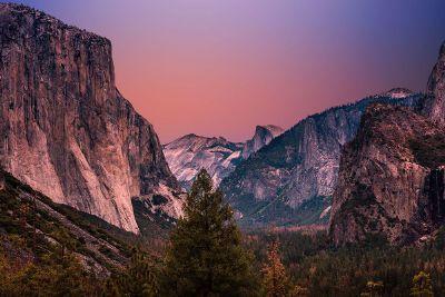 canyons at dusk
