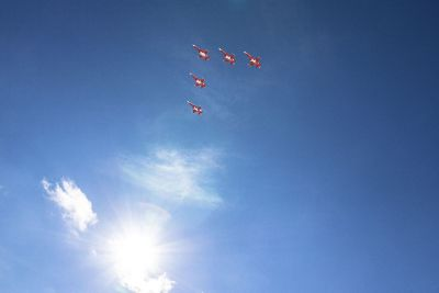 jet planes in sky