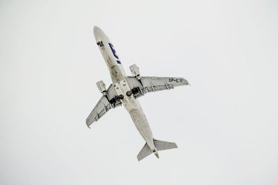 airplane from below