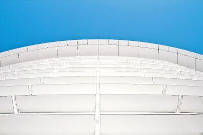 building facade from below