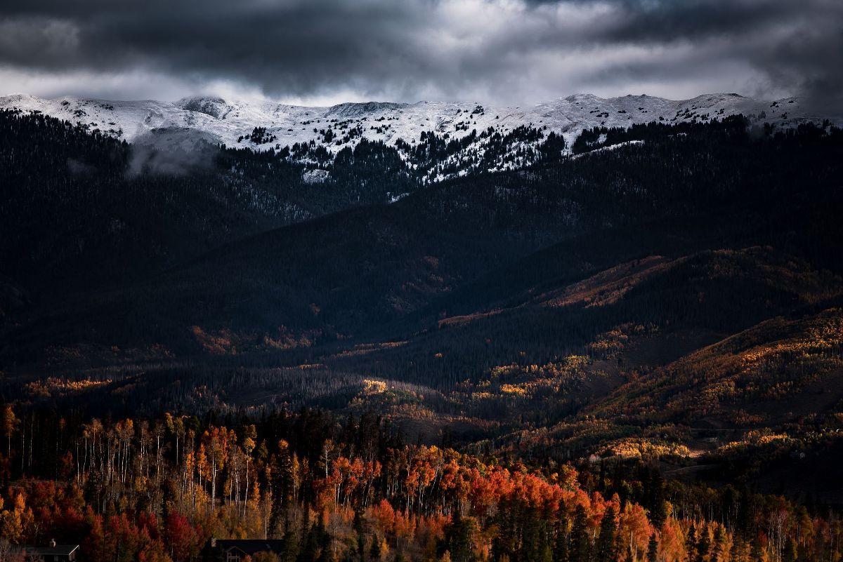 From Dark Mountains In Wallpaper Wizard Hd Desktop Background With Dark Mountain Scenery
