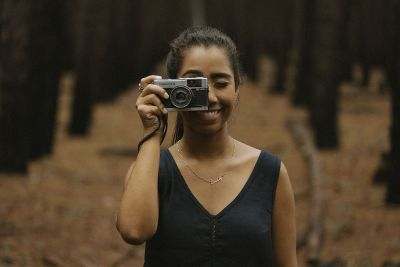 camera in the hand