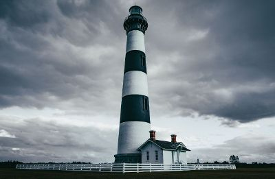 lighthouse on cloudy day