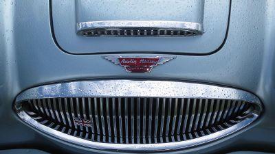 austin healey silvery car