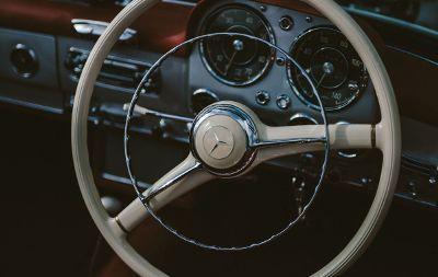 vintage mercedes dashboard