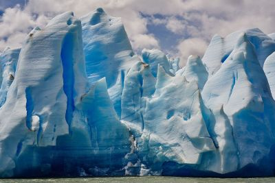 iceberg and sky blue