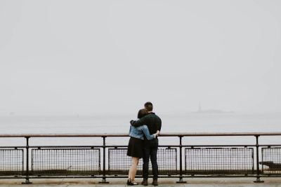 couple looking at ocean