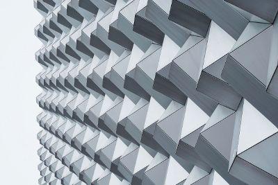 grey pattern facade
