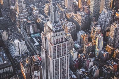 skyscrapers from above