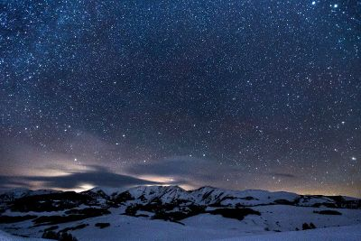 starry mountain sky