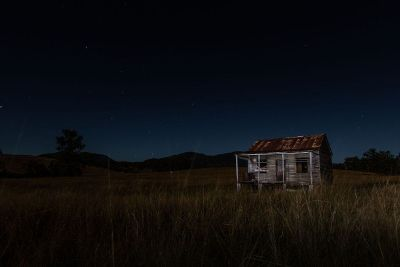 lonesome shack in the field