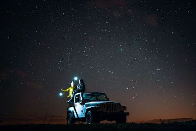 stargazing on a jeep