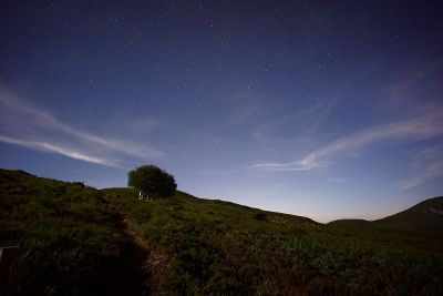 nightsky over hill
