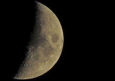 half face moon