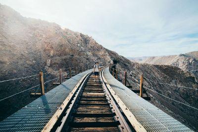 abandoned train path