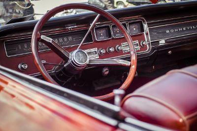 old school pontiac bonneville car