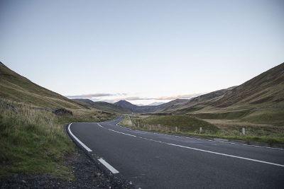 highway winding through the hillside