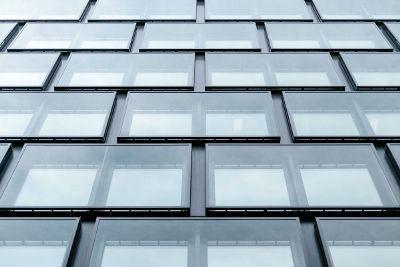 parralel glass rectangle windows