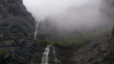 waterfalls and cliffs