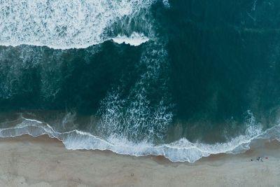 beach form the top