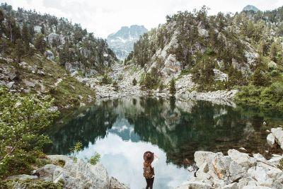 scene of lake and mountain