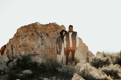 couple in the desert