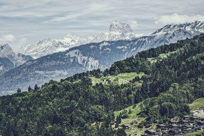 small village on mountain