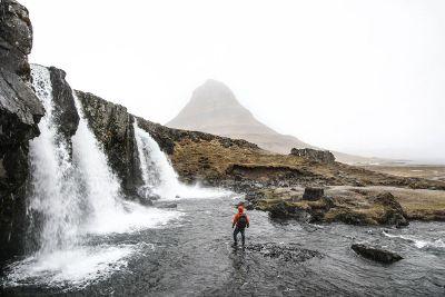 walking up to three waterfalls