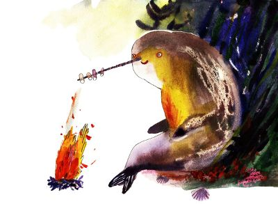 narwhal makes smores