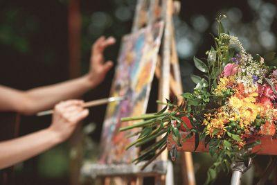painting wild flowers