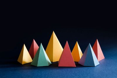 colorful pyramid shapes