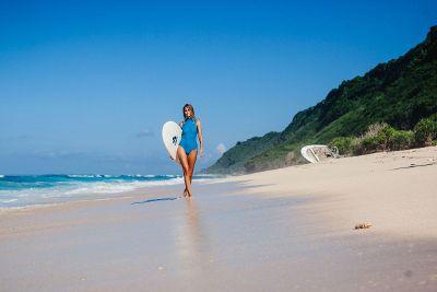 walking on beachside
