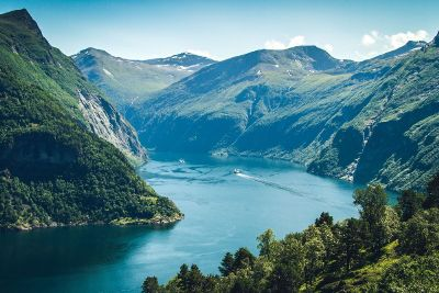 lake in a steep valley