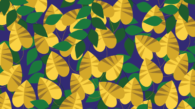 colorful illustration of leaves